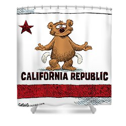 California Empty Pockets Shower Curtain