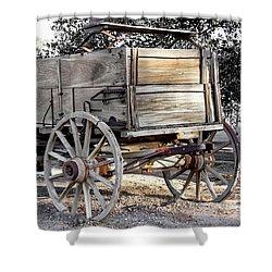 California Farm Wagon Shower Curtain