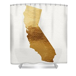 California Gold Art By Linda Woods Shower Curtain