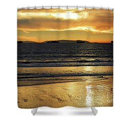California Gold Shower Curtain by Everette McMahan jr