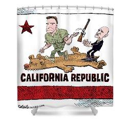 California Governor Handoff Shower Curtain