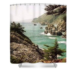 California Highway 1 Coast Shower Curtain by Ted Pollard