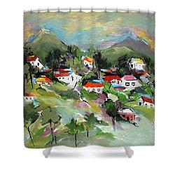 California Hills   Shower Curtain by Mary Spyridon Thompson