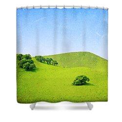 Shower Curtain featuring the photograph California Hillside by Melanie Alexandra Price