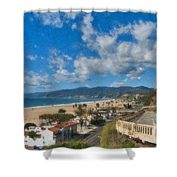 California Incline Palisades Park Ca Shower Curtain