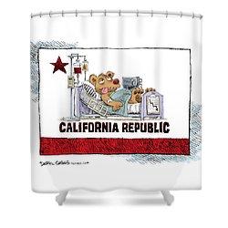 California Is Sick Shower Curtain