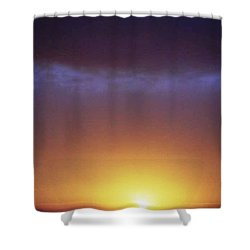 California Ocean Sunset Shower Curtain by Ted Pollard