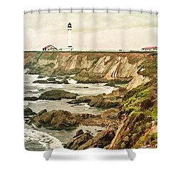 California - Point Arena Coastline Shower Curtain