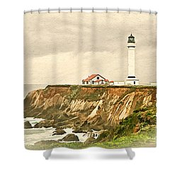 California - Point Arena Lighthouse Shower Curtain