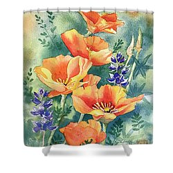 California Poppies In Bloom Shower Curtain