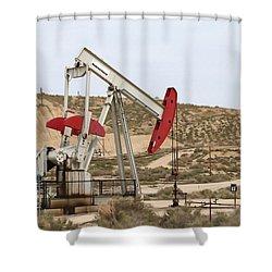 California Pumping Unit Shower Curtain