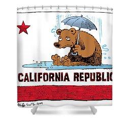California Rain Shower Curtain