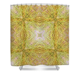 California Spring Oscillation Field Shower Curtain