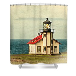 California - State Historic Park Point Cabrillo Lighthouse Shower Curtain