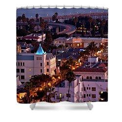 California Street At Ventura California Shower Curtain by John A Rodriguez