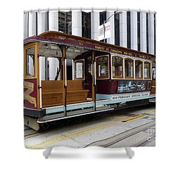 California Street Cable Car Shower Curtain