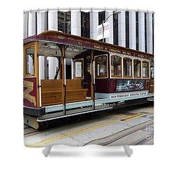 California Street Cable Car Shower Curtain