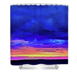 Shower Curtain featuring the painting California Sunrise by Joan Reese