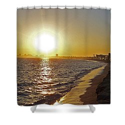 California Sunset Shower Curtain by Ernie Echols