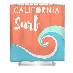 California Surf- Art By Linda Woods Shower Curtain
