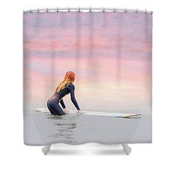 California Surfer Girl II Shower Curtain