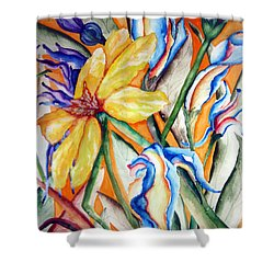 California Wildflowers Series I Shower Curtain by Lil Taylor