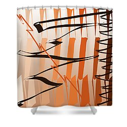 Calligraphic Doodle Shower Curtain
