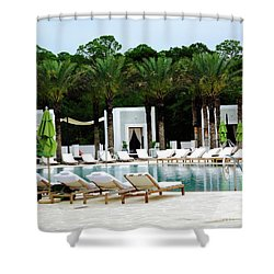 Caliza Pool In Alys Beach Shower Curtain