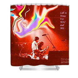 Grateful Dead - Call It Home For You And Me - Grateful Dead Shower Curtain by Susan Carella