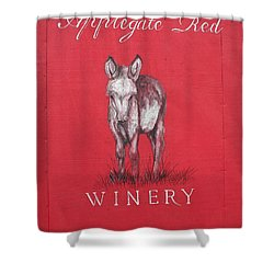 Shower Curtain featuring the photograph Call Me Applegate Red by Marie Neder