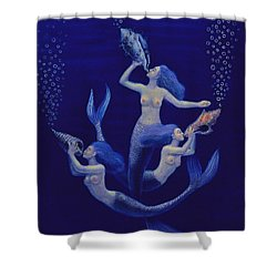 Call Of The Mermaids Shower Curtain