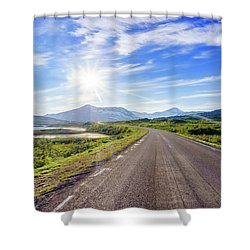 Shower Curtain featuring the photograph Call Of The Road by Dmytro Korol