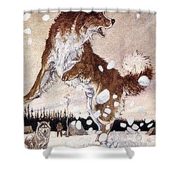 Call Of The Wild Shower Curtain by Granger