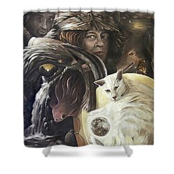 Call To The Spirits Shower Curtain