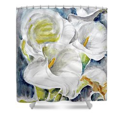 Shower Curtain featuring the painting Calla by Jasna Dragun