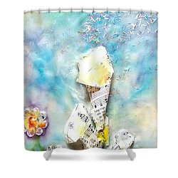 Calla Lily Dance Shower Curtain