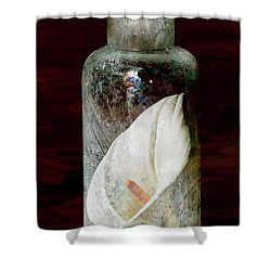 Shower Curtain featuring the photograph Calla Lily In A Bottle by Phyllis Denton