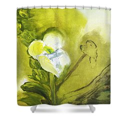 Calla Lily In Acrylic Shower Curtain