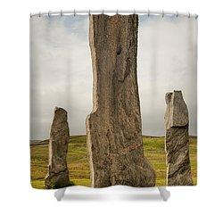 Callanish Standing Stones Shower Curtain