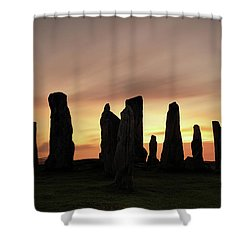 Callanish Stones Shower Curtain