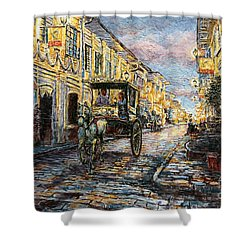 Calle Crisologo Shower Curtain by Joey Agbayani