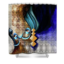 Shower Curtain featuring the painting Calligraphy 101 2 by Mawra Tahreem