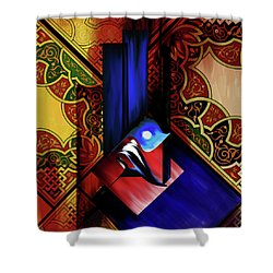 Shower Curtain featuring the painting Calligraphy 102 1 1 by Mawra Tahreem