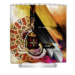 Shower Curtain featuring the painting Calligraphy 103 1 1 by Mawra Tahreem