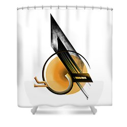 Shower Curtain featuring the painting Calligraphy 103 1 by Mawra Tahreem