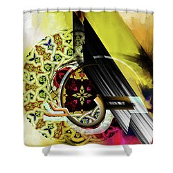 Shower Curtain featuring the painting Calligraphy 103 2 1 by Mawra Tahreem
