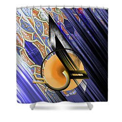 Shower Curtain featuring the painting Calligraphy 103 3  by Mawra Tahreem