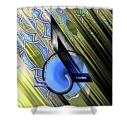Shower Curtain featuring the painting Calligraphy 103 4 by Mawra Tahreem