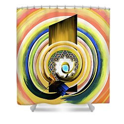 Shower Curtain featuring the painting Calligraphy 104 3 by Mawra Tahreem