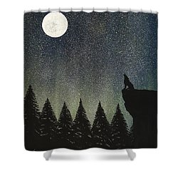 Calling The Moon Shower Curtain